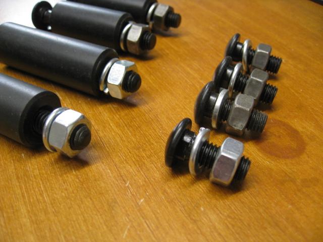 4 short 4 Long * Black Bumper Bolt Set for MK1// MK2 Escort With Spacers